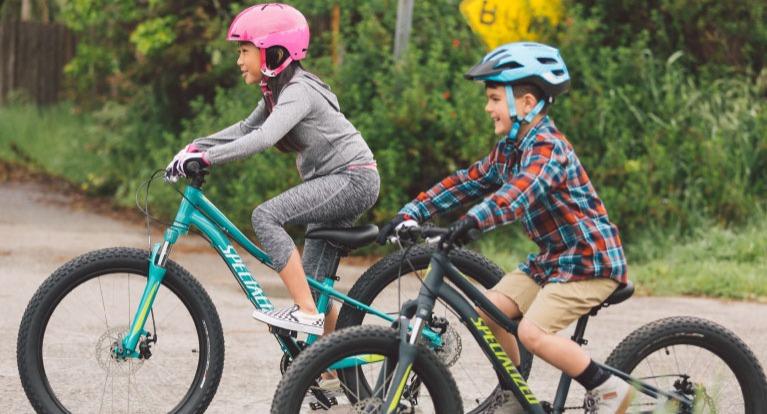 Kids riding bikes