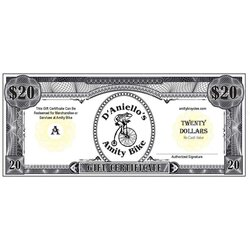 D'Aniello's Amity Bicycles Gift Certificate