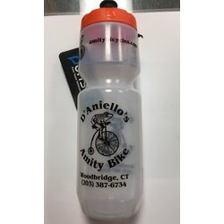 Specialized Purist - MoFlo - Amity Bikes Water Bottle Clear/Orange 26oz
