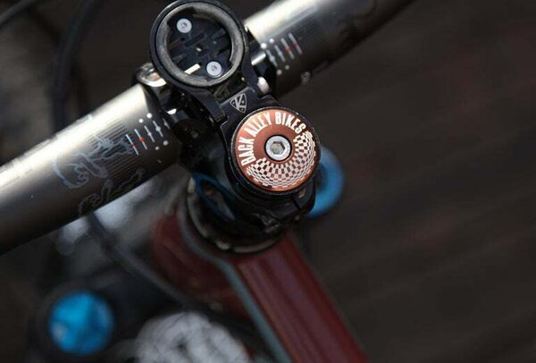 "Back Alley Bikes ""Optical Illusion"" Headset Top Cap"