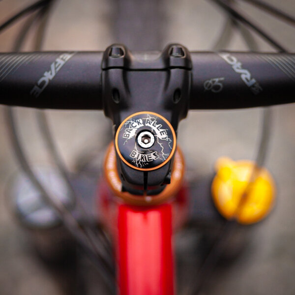 """Back Alley Bikes """"Ride The Lightning"""" Headset Top Cap"""