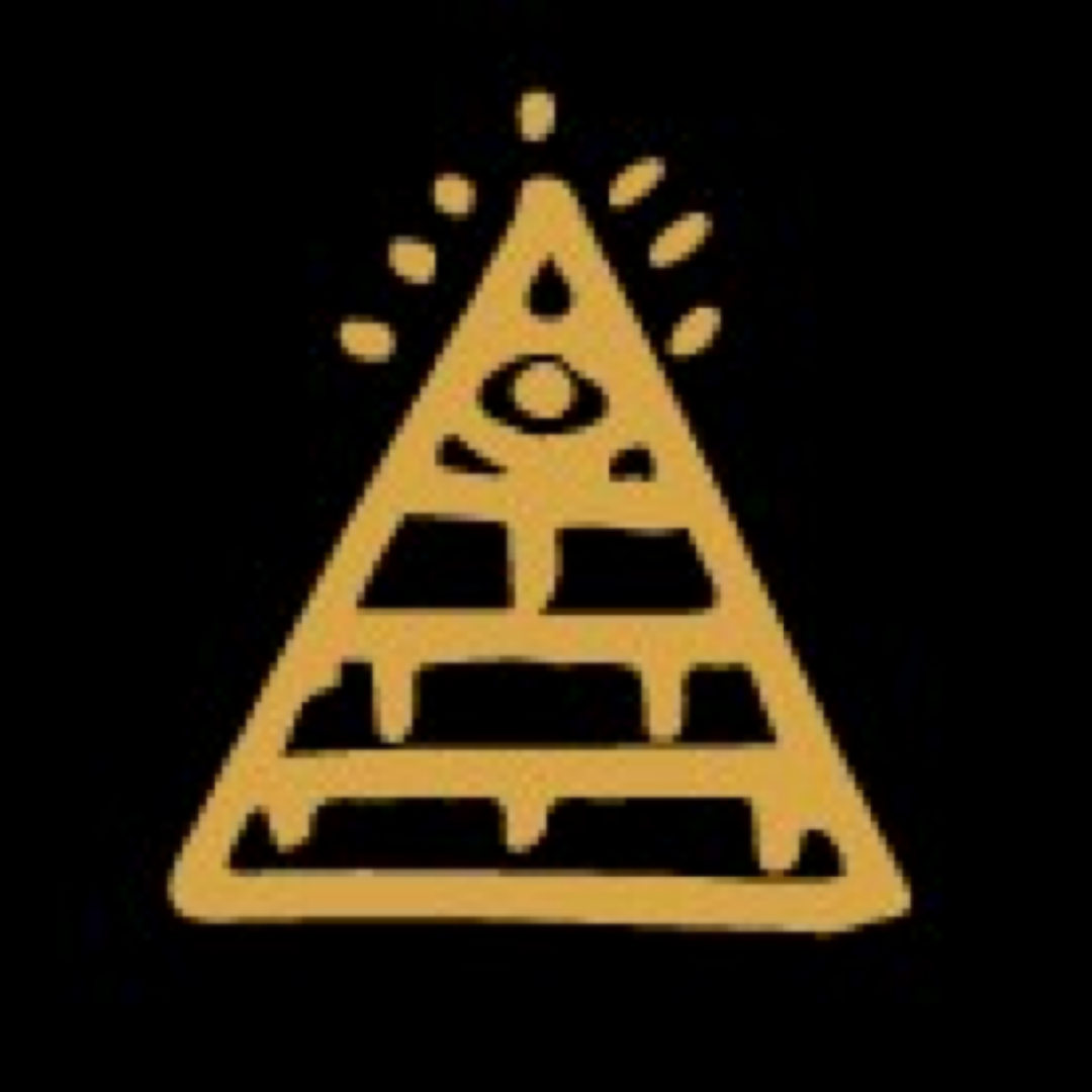 Pyramid with an eye illustration.