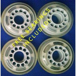 LiteZpeed Rollerblade Wheels 70mm 78a Clear - Set of 4
