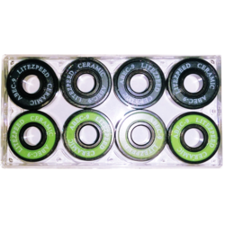LiteZpeed Ceramic Skateboard Bearings Abec 9 - Set of 8