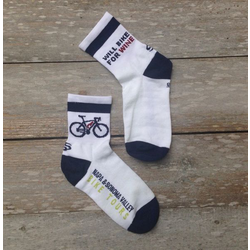 Will Bike for Wine Cycling Socks