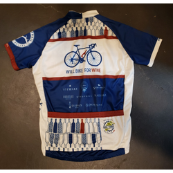 Will Bike for Wine Men's Bottles Cycling Jersey