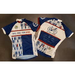 Will Bike for Wine Women's Bottles Cycling Jersey