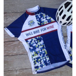 Will Bike for Wine Women's Geometric Cycling Jersey
