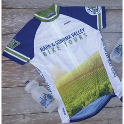 Will Bike for Wine Women's Vineyard Cycling Jersey