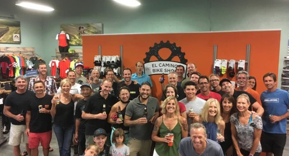 Employees and friends of El Camino Bike Shop.