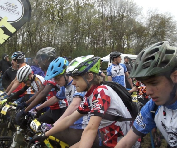 Juniors at the starting line