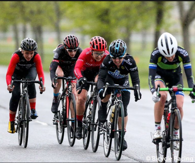 Group of road cyclist