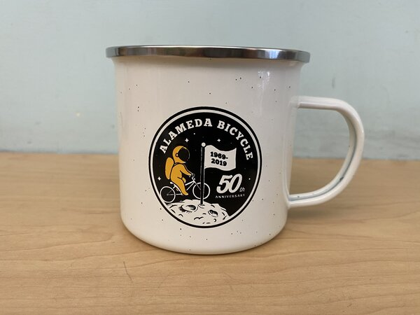 Alameda Bicycle 50th Anniversary Enamel Mug