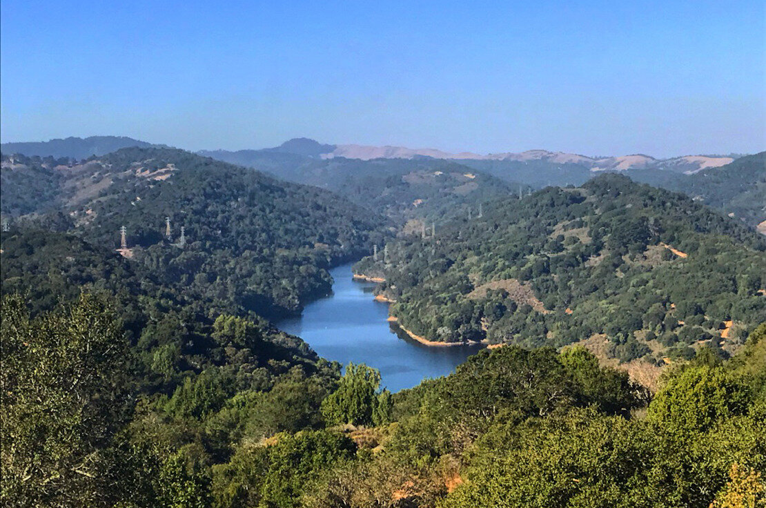 San Leandro Reservoir from Soaring Hawk