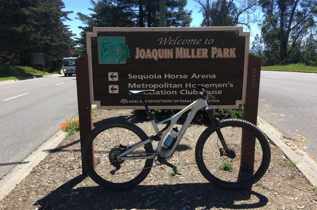 Joaquin Miller Park sign