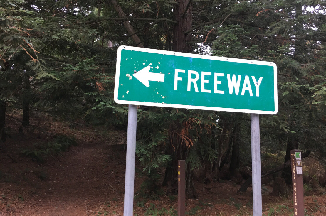 Good trail down this way. Freeway.