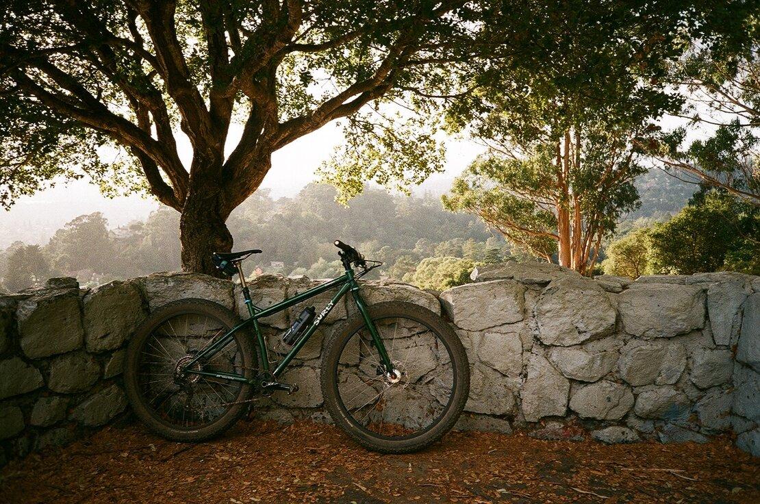 Surly Krampus mountain bike at Joaquin Miller Park