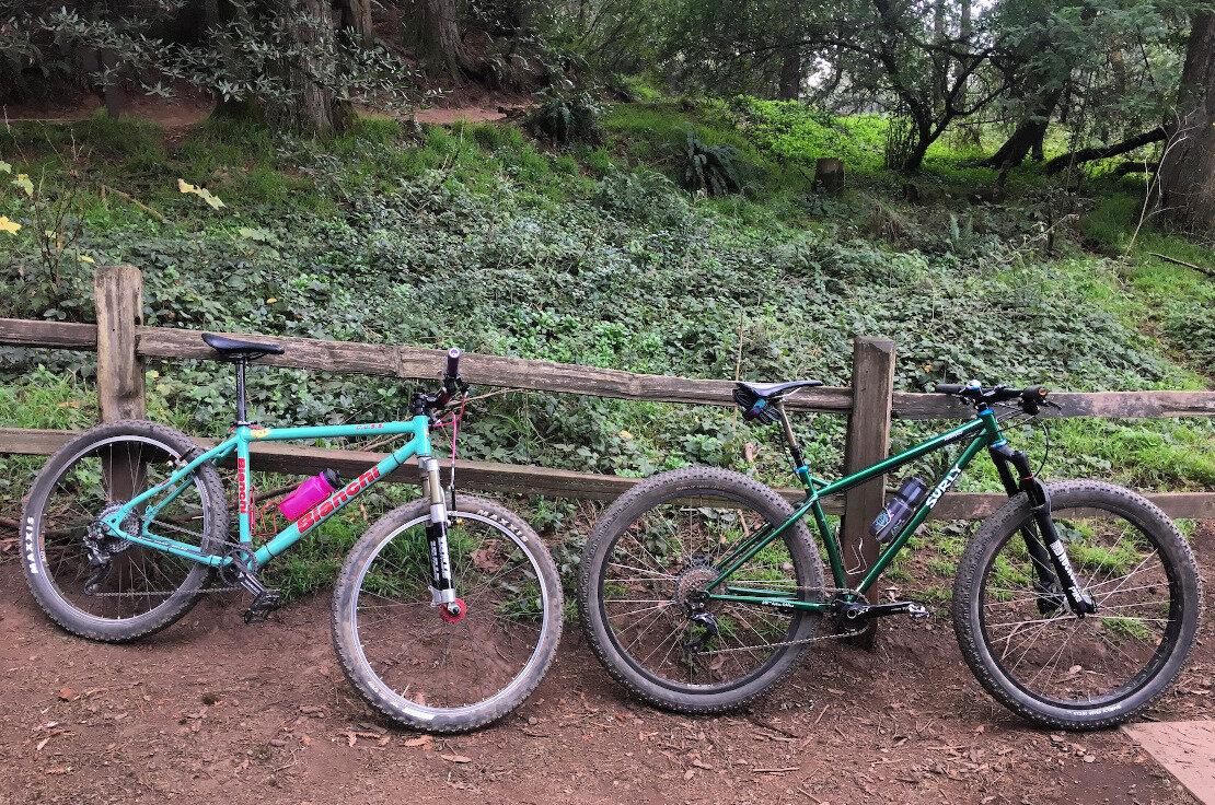 Bikes at the Redwood Bowl