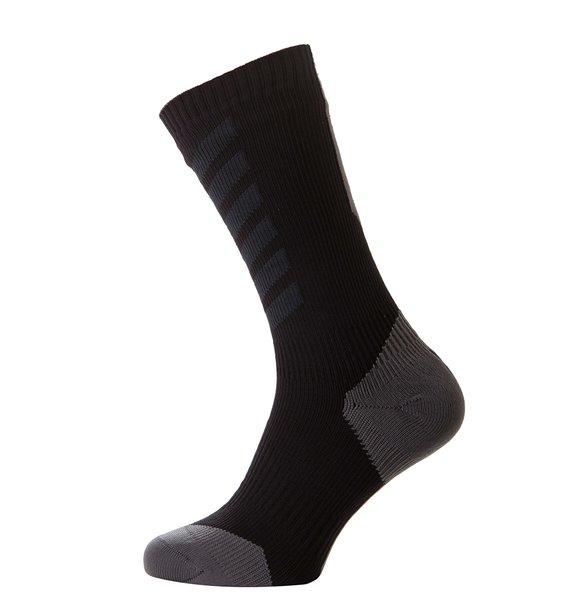 SealSkinz MTB Mid Knee Waterproof Sock: Black
