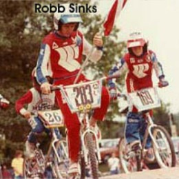 Robb Sinks leading the National Anthem at a Rockford BMX race