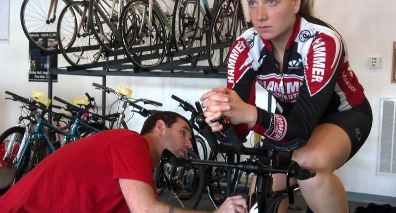Bike fitting session
