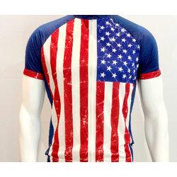 Primal Wear Stars & Stripes Men's Sport Cut Cycling Jersey