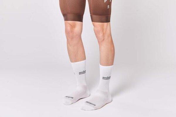 Fingers Crossed Ambition Socks - White