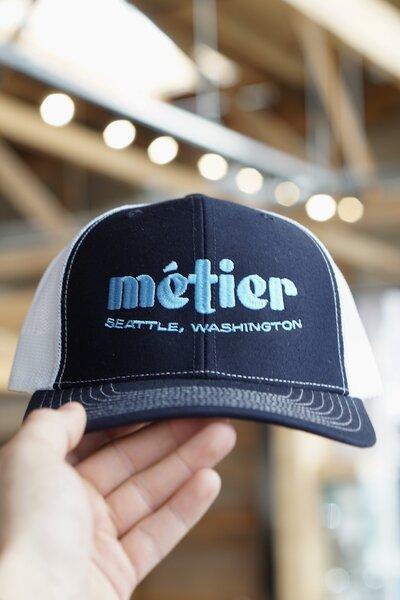 Metier Trucker Hat - Navy/Light Blue