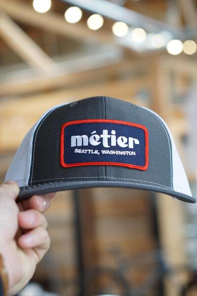 Metier Trucker Hat - Dark Grey/White
