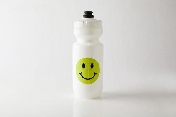 Fingers Crossed Smiley White Water Bottle
