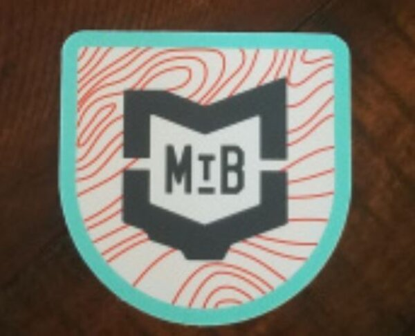 "MVMBA Miami Valley Mountain Bike Association MVMBA 3"" MTB Topo Lines Sticker"