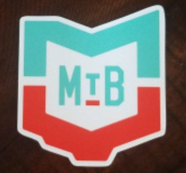 "MVMBA Miami Valley Mountain Bike Association MVMBA 4"" MTB Logo Mint/Orange"