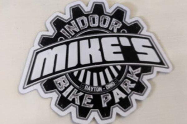 Mike's Bike Park MBP Logo Die Cut Large Sticker