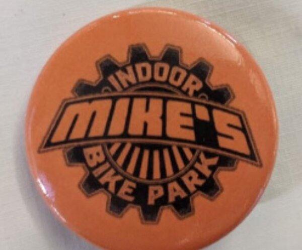Mike's Bike Park MBP Logo Button Small Orange