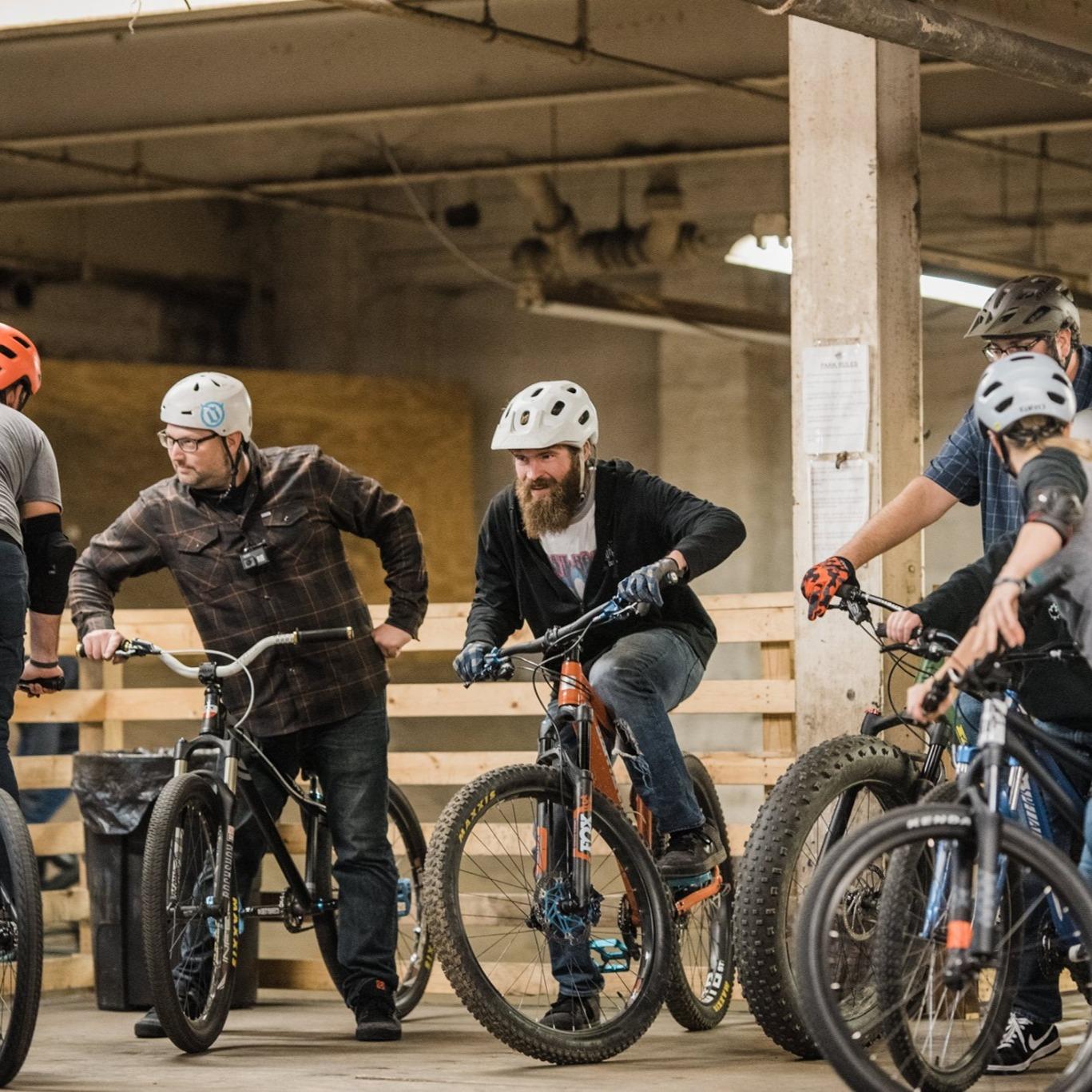 Friends riding Bikes