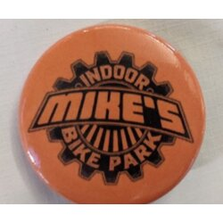 Mike's Bike Park MBP Logo Button Small Orange