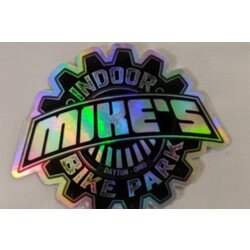 Mike's Bike Park MBP Logo Die Cut Small Sticker Hologram