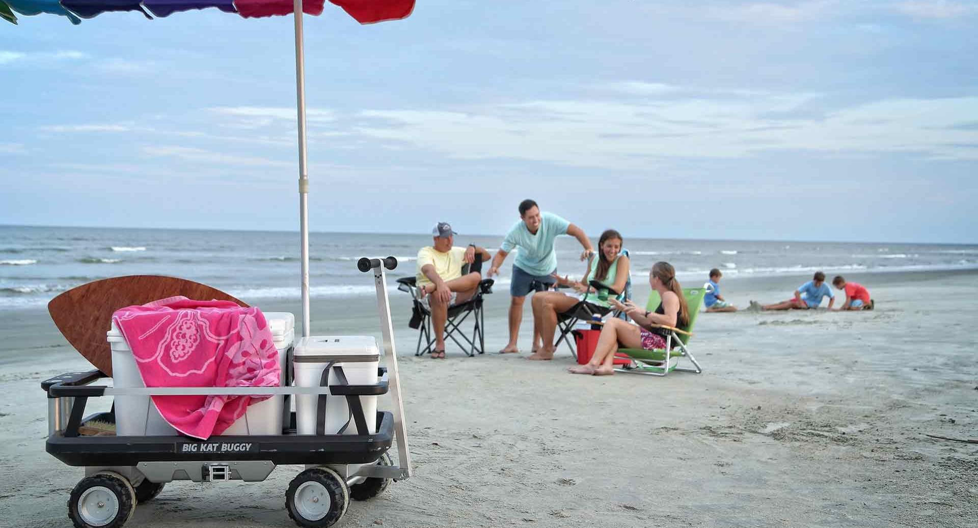 The Big Kat Buggy at the beach