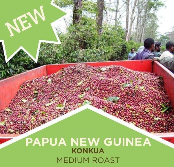Coffee | Papua New Guinea Konkua - Medium Roast | Whole Bean