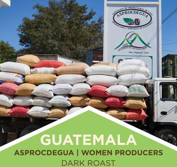 Coffee | Guatemala | Women Producers | ASPROCDEGUA Co-op | Dark Roast | Whole Bean