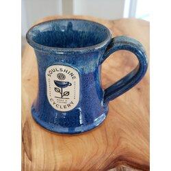 Soulshine Cyclery Aurora Borealis Handmade Pottery Mug