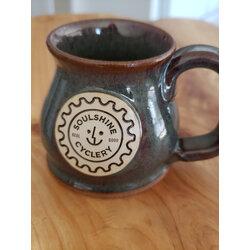 Soulshine Cyclery Rustic Moss Handmade Pottery Mug