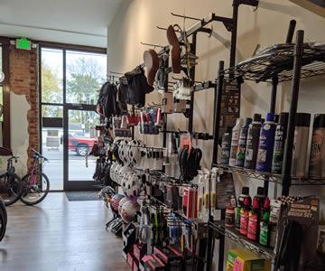 Bike parts and accessories showroom