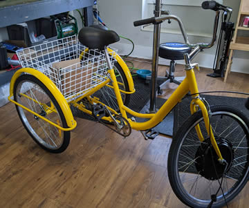 Adult trike with electric motor kit