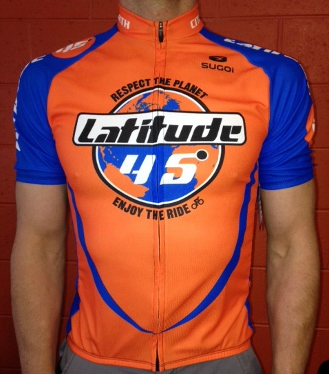 Latitude 45 Lat45 Respect the Planet Jersey