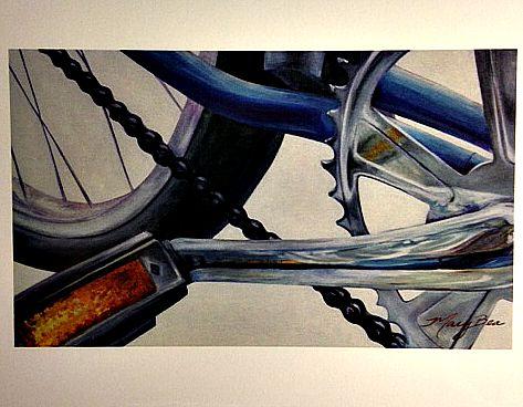 Mary Bea Art Mary Bea Bicycle Card - Blank Blue