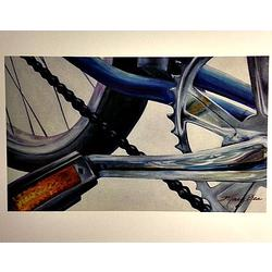 Mary Bea Art Mary Bea Bicycle Card - Blank Blue