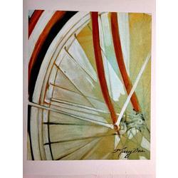 Mary Bea Art Mary Bea Bicycle Card - Blank Orange Front 1