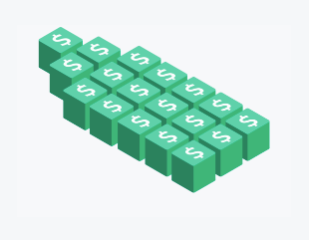 An image of money icon blocks