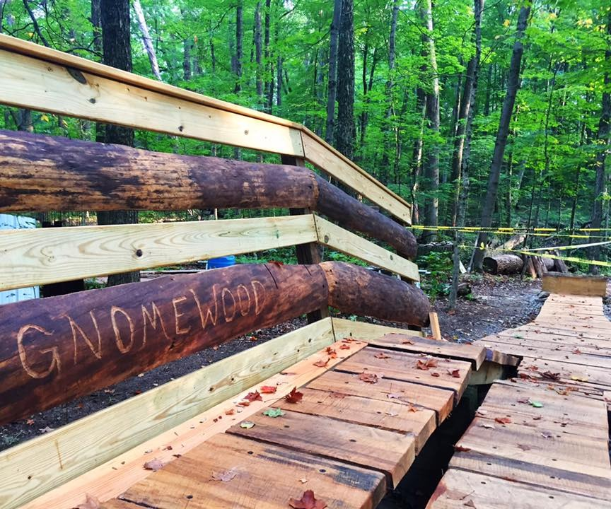 Photo of a trail feature at Gnome Wood bike park